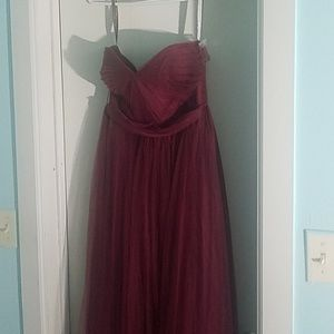Red burgundy Jenny Yoo dress